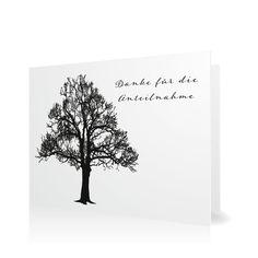 Dankeskarte Lebensbaum in Weiss - Klappkarte flach #Trauer #Danksagungskarten https://www.goldbek.de/trauer/danksagungskarten/dankeskarte-lebensbaum?color=weiss&design=d3cff