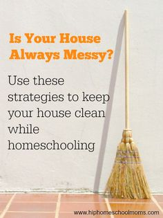 As homeschoolers, our houses tend to get messy because we use them all the time! But if you use these tips, you can keep your house clean while homeschooling without going crazy.