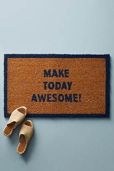 Door mat, welcome mat, make today awesome, diy, do it your or buy it here, fast shipping,  great quality, home decor, rustic (aff link )