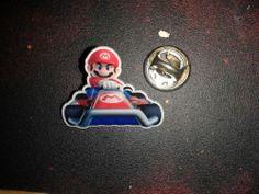 Gamescom 2011 Nintendo 3DS promo Pin Mario Kart 7 Mario in Kart Pin SELTEN & RAR