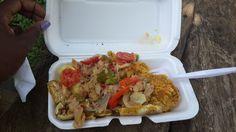 Saltfish with Roas' Yam, Roas' Sweet Potato and Plaintain - deeeeliiiisshhousss! Jamaican Cuisine, Yams, Sweet Potato, Potatoes, Mexican, Foods, Ethnic Recipes, Food Food, Food Items