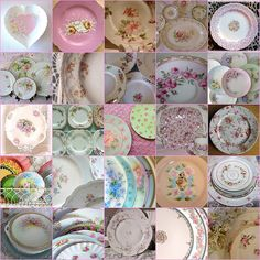 `chintz design dishes...fun to mix them all up!
