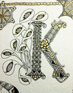 Aug 16 - Illumitangle: Zentangle Letters with Sharon Payne