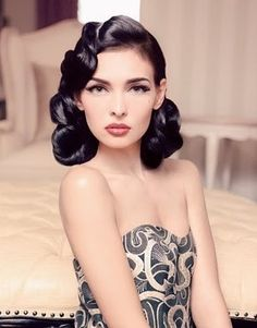 flawless retro hair and makeup