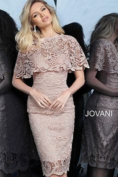 jovani Light Pink Fitted Knee Length Lace Cocktail Dress 1401 Source by patriciakasf < Br > Most Beautiful Dresses, Elegant Dresses, Sexy Dresses, Evening Dresses, Casual Dresses, Short Dresses, Formal Dresses, Summer Dresses, Party Dresses