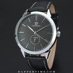 """#DTlucius ($55.00) The cool charm of black and silver. Consummate dress #watch for a #classic look. Want it for yourself? Shop the #honestcollection at DapperTime.com. Live in the good ol' US of A?  Simply comment """"Sold"""" and your email (e.g. sold me@me.com) and an email with a link to the checkout will be coming your way. Hope y'all enjoyed #4july! #DapperTime #dapper #menlifestyle #menstyle #mensfashion #menwithclass #menwithstyle #instafashion #gentleman #watches #timepieces #menswatches"""