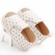 Non-slip Baby Crib Shoes PU Leather Dot Newborn Baby First Walkers Spring Summer Infant Girl Casual Shoes Toddler Boy Sneakers