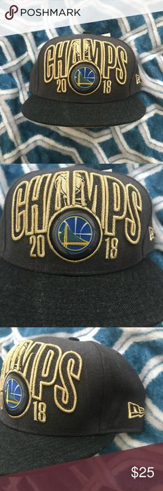 43fa58033c28b4 Golden State Warriors 18' Champs NewEra Hat New Era GS Warriors SnapBack  Hat 2018 Champs