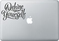 Define Yourself - Macbook Decal