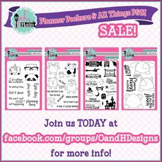 It's time for the 🎈Planner Peekers and All Things P&M SALE! 🎈 (AKA Pink and Main SALE!) Join us at Facebook.com/groups/oandhdesigns for sale details! #oandhdesigns #pinkandmain #cardmaking #planner #planneraddict #plannercommunity #plannergeek #plannergirl #plannergoodies #plannerlife #plannerlove #plannersgottaplan #rubberstamp #scrapbooking #stamps #stamping #stationery #stationeryaddict #stationerylove