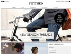 Moonfruit Template - Stitched #website #design