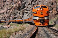 Royal Gorge Route Railroad. Take a scenic railway tour along the Arkansas River. View our Rocky Mountain Train Tour on our website. www.adobeinnatcascade.com