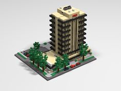 Key Bank building in Fort Collins Colorado by Charlie Mueller. LEGO Microscale