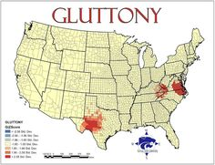 Rad gluttony map, based on fast food outlets per capita.