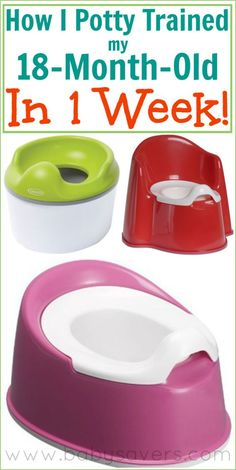 potty training at 18 months? I don't think Noelle needs to be potty trained just yet, but this might be worth trying.