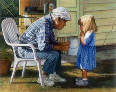 Grandpa's Rules fine art giclee reproduction little by GlendaOkiev, $160.00