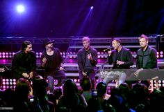 Singers Kevin Richardson, A. J. McLean, Brian Littrell, Howie Dorough and Nick Carter of Backstreet Boys perform live on the Honda Stage at the iHeartRadio Theater LA on September 30, 2016 in Burbank, California.