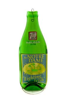 Notre Dame Vintage 1973 7up Bottle