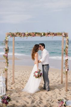 Beach Wedding Setting On Smp Http Www Stylemepretty