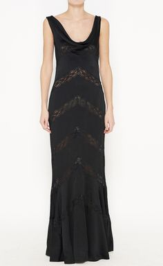 Christian Dior Black Dress | VAUNTE - With a white slip or underlay, this would be lovely!