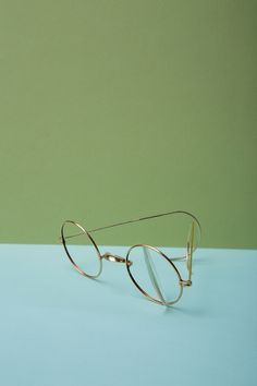 gold vintage glasses -- pic by Edith De Michele
