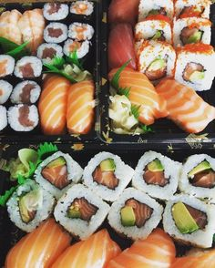 Sushi Sushi Recipes, Asian Recipes, Healthy Recipes, Cute Food, Yummy Food, Sushi Pictures, Sushi Platter, Sushi Burger, Sushi Party