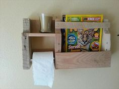 Pallet Wood Paper Roll Holder