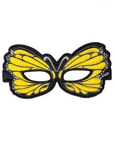 Maske Schmetterling gelb