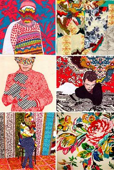 Six amazing pieces by artist and fellow Tumblrer Jamal Vrno. Love how he incorporates textile and pattern design.  (via CATCH FIRE)