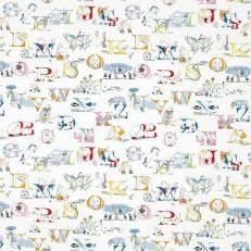 Little Sanderson Abracazoo Alphabet Zoo Embroidery Fabric Collection 223924