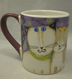"Gibson ""Cool Cats"" coffee mug in purple...for the purple loving and acting loving friends! And don't forget Siamese cat loving friend!"