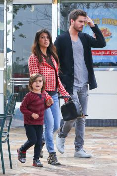 Kourtney Kardashian, Scott and Mason Disick