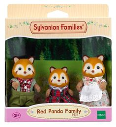 Sylvanian Families Rouge Panda Famille Ensemble in Jouets et jeux, Poupées, vêtements, access., Poupées mannequins, mini   eBay