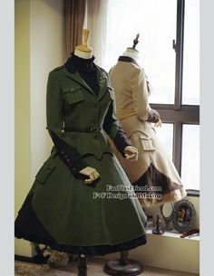 Steel Rose, Military Lolita Steampunk Double Layers Uniform Skirt