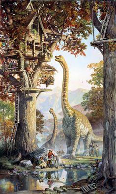 Treetown, Dinotopia - James Gurney