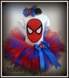 I am so in love with this outfit cause i love spiderman  and i am having a baby girl and this will be the cutest outfit on her <3