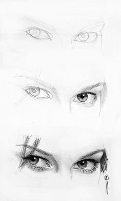 procesos de dibujo: woman eyes proccess / ojos de mujer, proccess