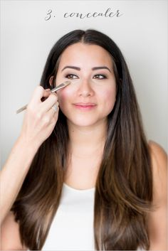 Step 3. Conceal. Learn how to put on concealer for your wedding. ---> http://www.weddingchicks.com/2014/06/06/flawless-bronzed-diy-wedding-makeup/