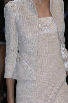 Valentino at Couture Spring 2007 - Details Runway Photos Tweed Dress, Jacket Dress, Chanel Fashion, Chanel Chanel, Chanel Bags, Chanel Handbags, Look Fashion, Womens Fashion, Fashion Design