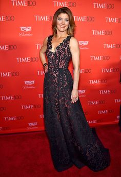 Norah O'Donnell's picturesque dress is perfect for the season. A+