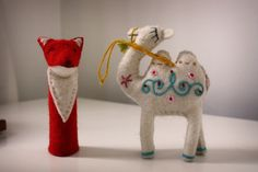 Felt animals from Central Asia