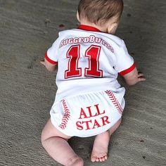 Baseball Baby Boy Bloomers