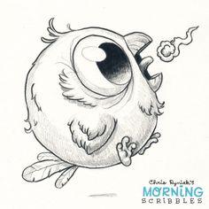 Artist Chris Ryniak - cute art - morning scribbles
