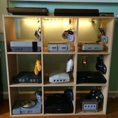 """thegentlemangamer: """" 8bitrevolver: """" fujicucumber: """" 8bitrevolver: """" Retro Game Room Version 2 I needed to patch the walls and paint, so I thought I might as well change it all up. 23 different..."""