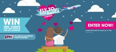 Win Free* Flights For 6 Months & 000 in Car Rental Cash Coupons* -