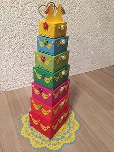 Geldgeschenk Money Gift Regenbogentorte  Rainbow Cake