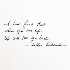 Life will love you back
