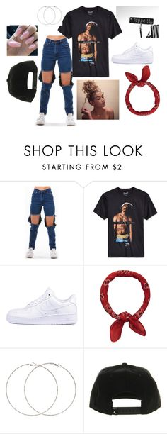 """""""long live the rose that grew from concrete"""" by linagbotello on Polyvore featuring NIKE, Accessorize and Forever 21"""