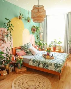 QUOTES AND PICTURES🎬📸 — Crackling rain at the window 🌿🌻🌸 Awesome Bedrooms, Beautiful Bedrooms, Interior Inspiration, Room Inspiration, Bedroom Wall, Bedroom Decor, Retro Vintage, Interior Decorating, Interior Design