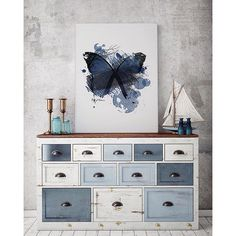 'Blue Butterfly' #poster #interior #design #print #wall #art #norway